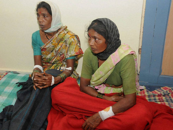 Injured villagers being treated at a hospital in Pune
