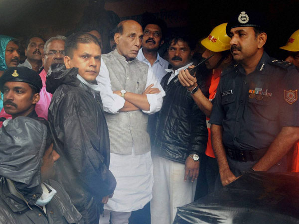 Union Home Minister Rajnath Singh meets disaster management officials
