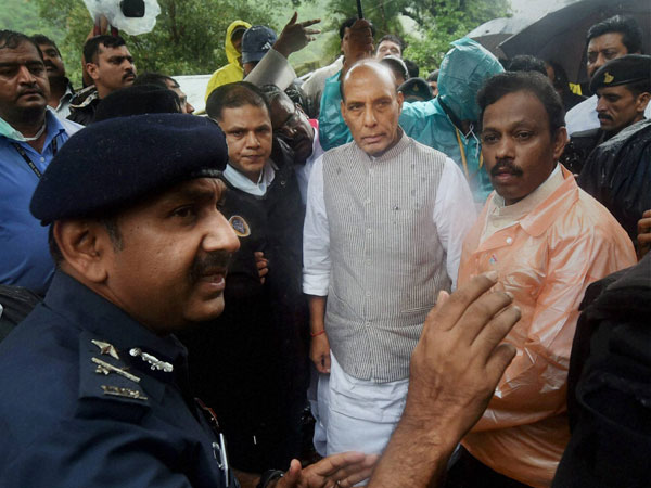 Rajnath Singh meets disaster management officials