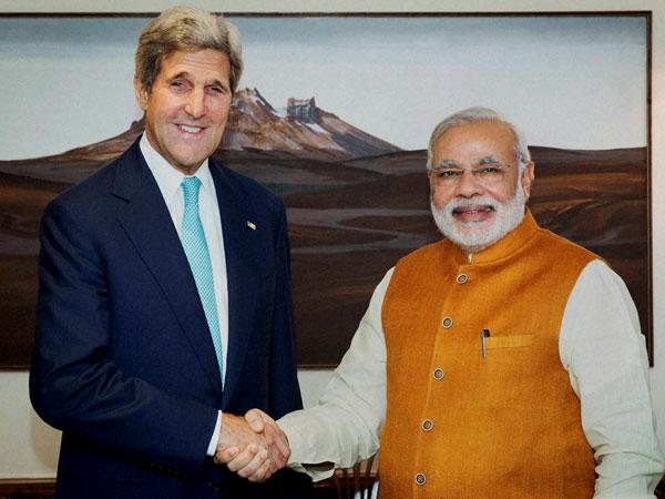 John Kerry meets PM Narendra Modi
