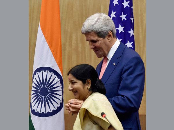 John Kerry-Sushma Swaraj