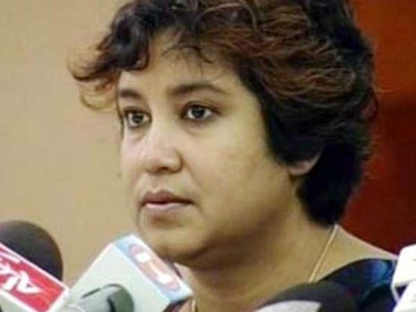 Taslima Nasreen meets Rajnath