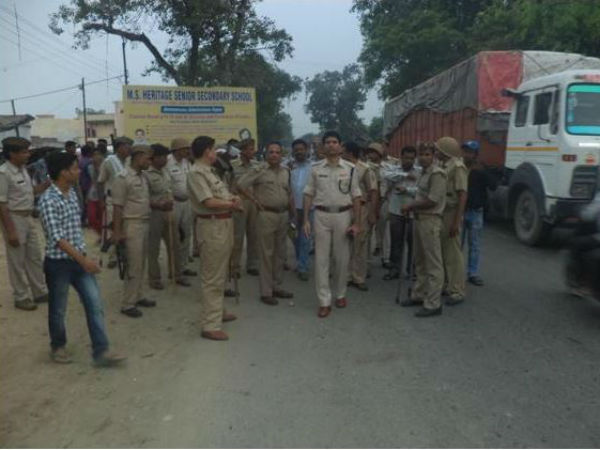 Police presence increased near the village where the incident took place in UP.