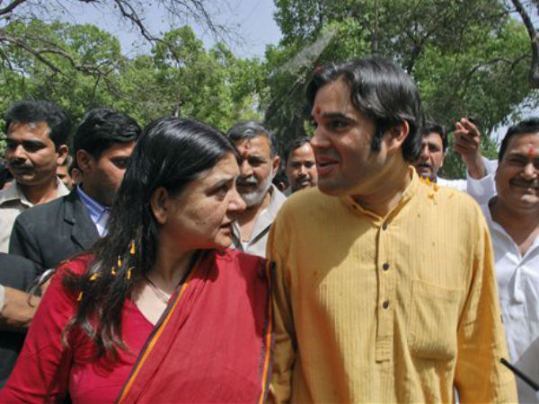 Maneka Gandhi with Varun Gandhi