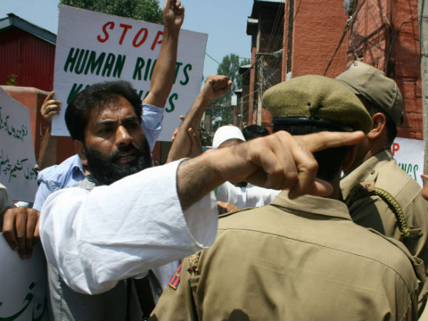 Protest against violation of human rights in Kashmir