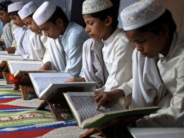 There are about 35,000 madrasas operational in India.
