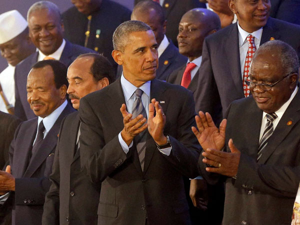 Obama at tha US Africa leaders Summit