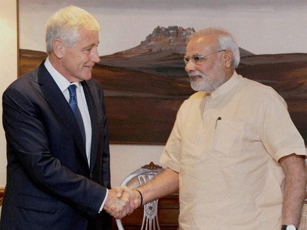 US Def Secy Chuck Hagel meets PM Modi