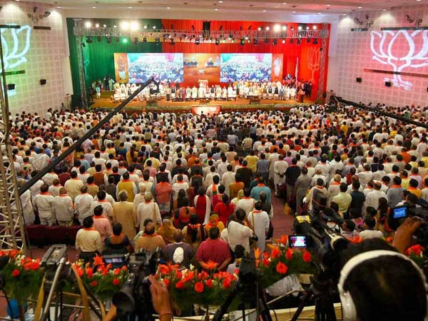A view of the BJP National Council meet