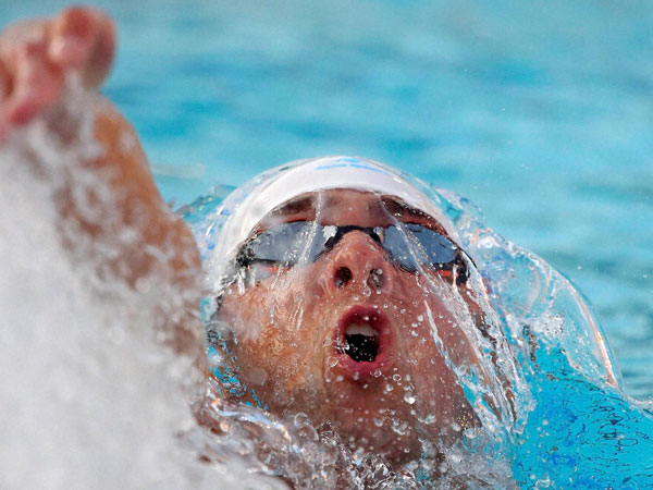 Phelps settles for second place