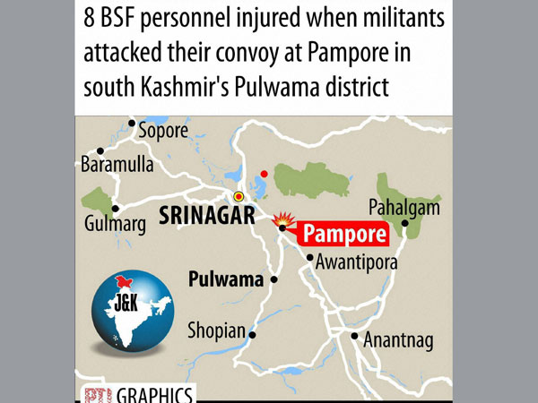 JK guerrilla attack: 8 troopers injured
