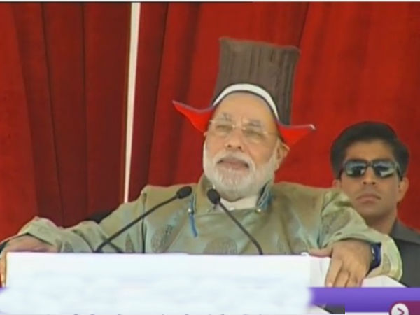 Modi speaks of development in Kargil