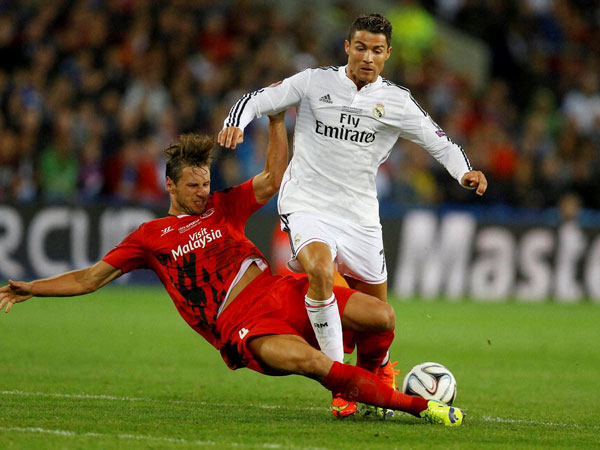 Christiano Ronaldo in action