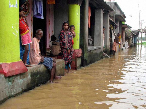 River water floods village in Sundarbans