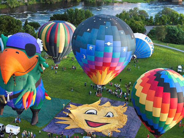Balloon festival in Maine