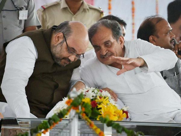 Amit Shah with Birendra Singh