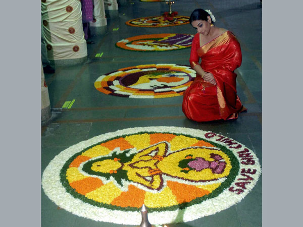 Kerala's flower Rangoli competition in Mumbai