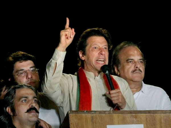 Imran Khan addresses rally in Islamabad