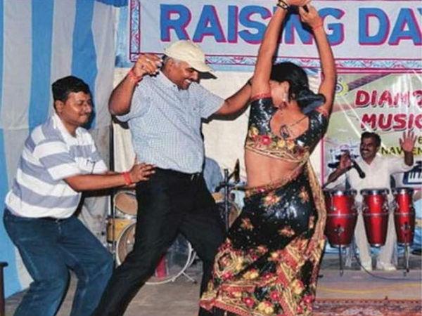 DIG (Faizabad range) Nilabhja Chaudhary was seen dancing at a function.