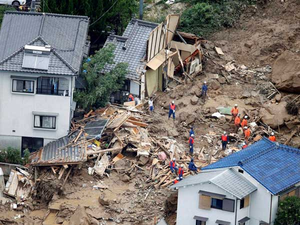 18 die as torrential rains hit Japan