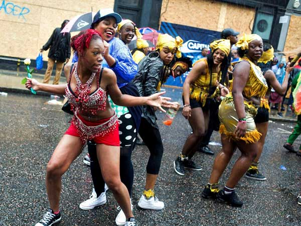 People participate in Notting Hill carnival