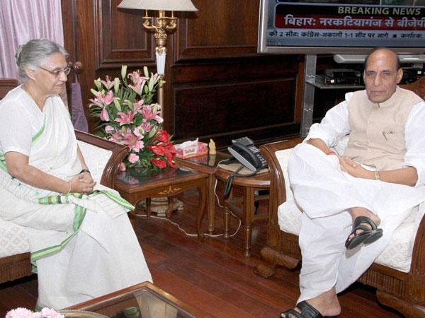 Sheila Dikshit meets Rajnath Singh