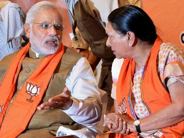 Anandiben Patel and Narendra Modi
