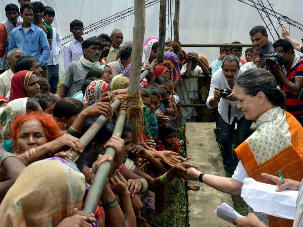 Sonia Gandhi was welcomed by ITI workers
