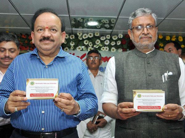Union Health Minister Harsh Vardhan with senior BJP leader Sushil Kumar Modi