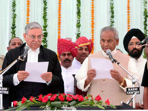 New Governor Kalyan Singh at a swering-in -ceremony