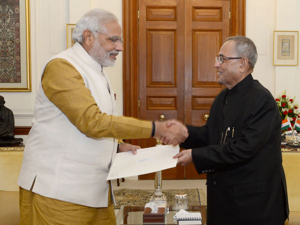 Modi and Pranab Mukherjee