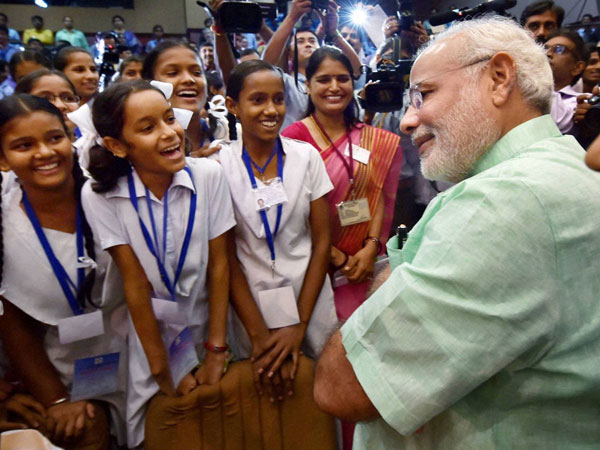 Students stump PM Modi with questions