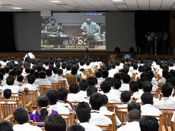 Over 71 lakh students heard PM's speech