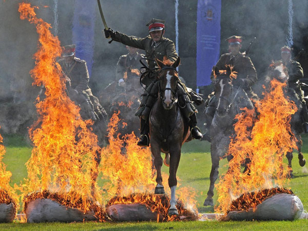 Cavalry show in Poland