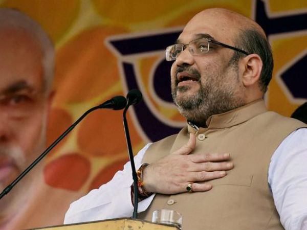 BJP president Amit Shah in West Bengal. (PTI Photo)