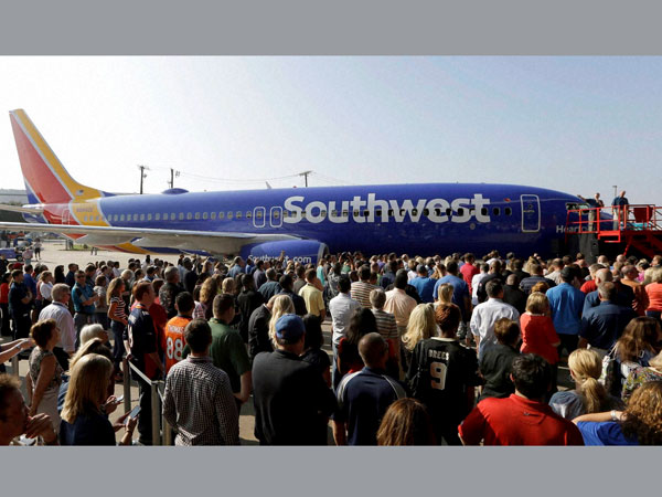 Southwest airlines goes purple
