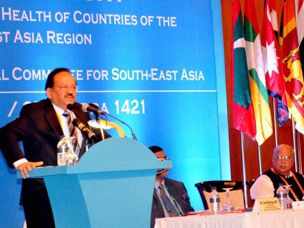 Harsh Vardhan at Inaugural Session of WHO regional conference