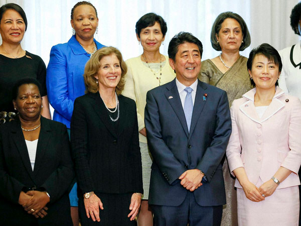 Abe invites Ambassadors for luncheon