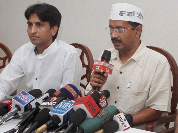 Kejriwal and Kumar Vishwas