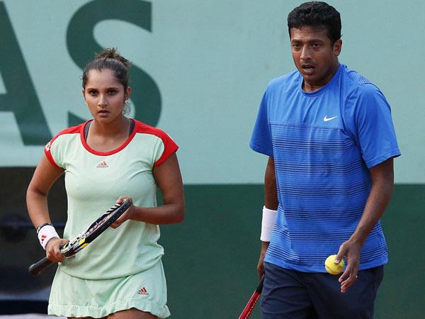 Sania Mirza with Mahesh Bhupati