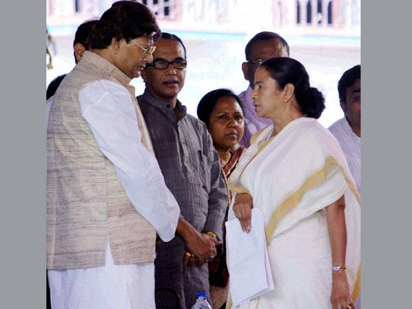 Tapas Pal and Mamata Banerjee