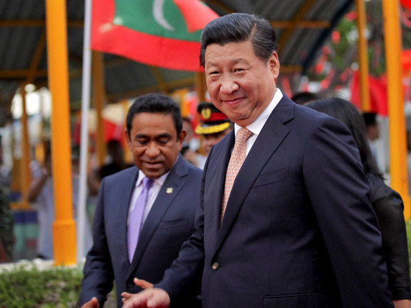 Chinese President in Maldives