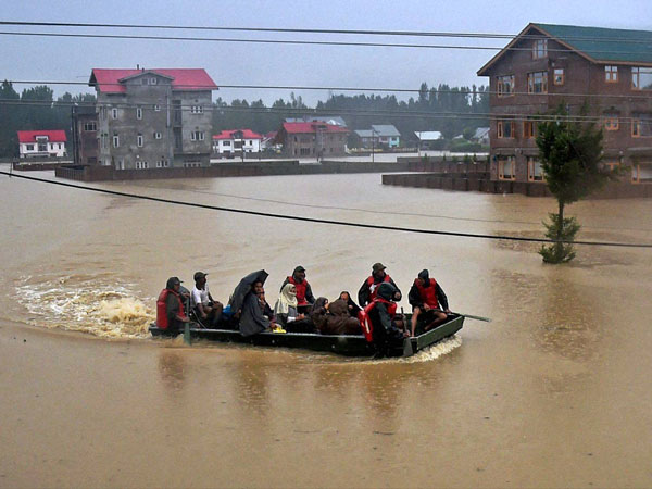 J&K floods: Dewatering operations