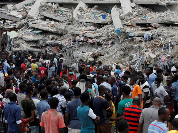44 killed in Nigeria building collapse