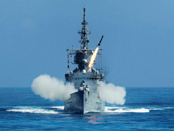 Taiwan launches anti-submarine rocket