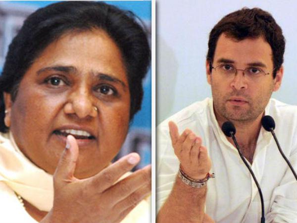 Mayawati and Rahul Gandhi