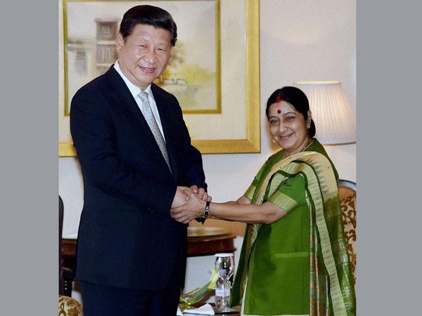 Sushma Swaraj meets Xi Jinping