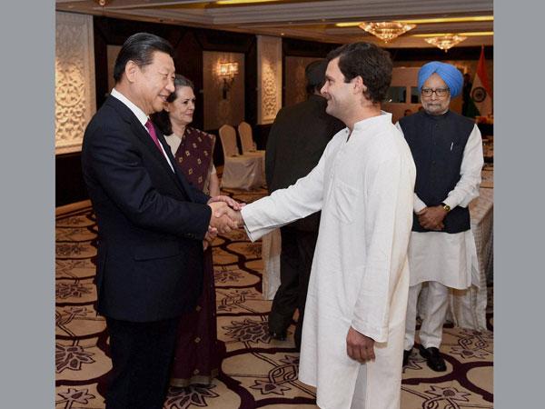 Sonia, Manmohan call on Xi