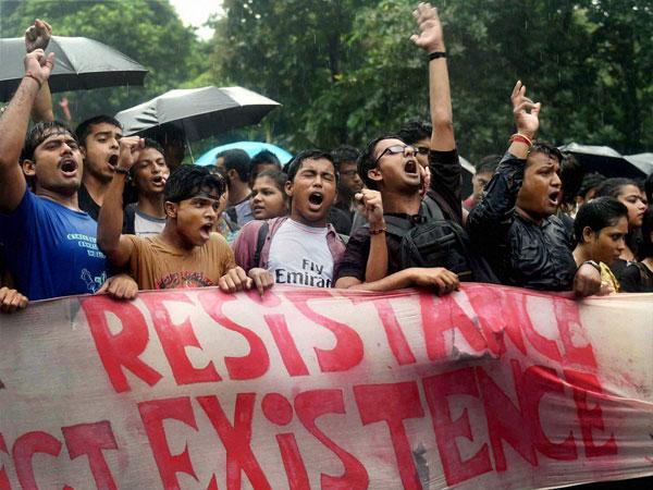 jadavpur university, kolkata, west bengal, protest, rally, trinamool congress