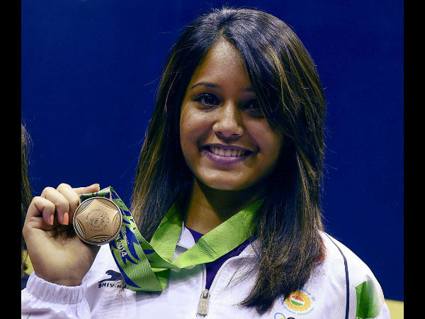 Dipika Pallikal with her bronze medal in Incheon